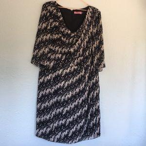 Eliza J cowl neck printed dress